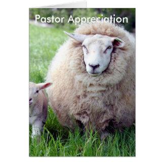 Pastor-Anerkennungs-Karte Grußkarte