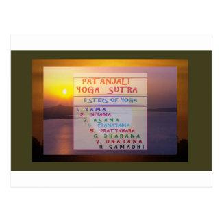 PATANJALI Yoga-Meditation Sutra Liste Postkarte