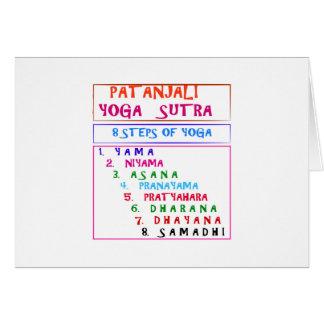 PATANJALI Yoga Sutra Zusammenstellungs-Liste Karte