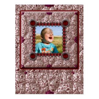 Patchwork-Enthusiast-Foto-Rahmen Postkarte