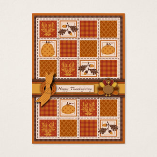 Patchwork Steppen-Blick Erntedank Visitenkarte
