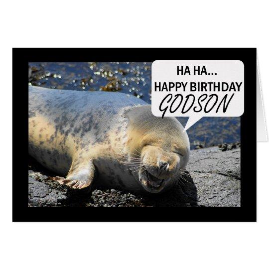 Patensohn-Geburtstagskarte mit lachendem Grußkarte