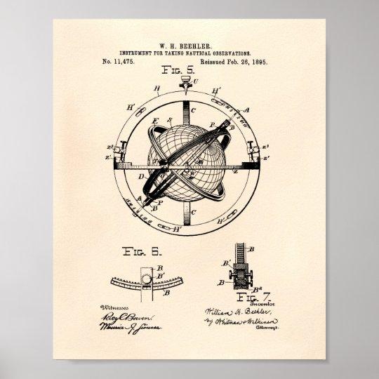 Patent-Kunst altes Peper Nautacal Poster