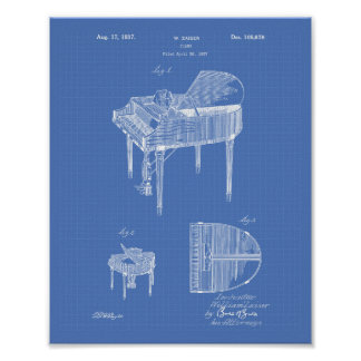 Patent-Kunst-Plan des Klavier-1937 Poster
