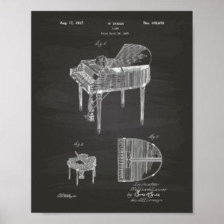 Patent-Kunst-Tafel des Klavier-1937 Poster