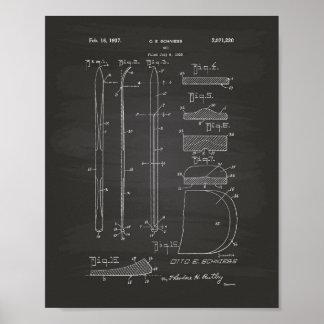 Patent-Kunst-Tafel des Ski-1937 Poster