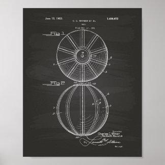 Patent-Kunst-Tafel des Wasserball-Ball-1923 Poster
