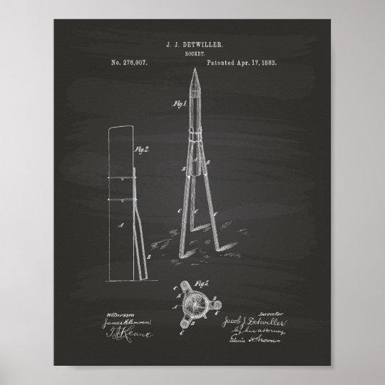 Patent-Kunst-Tafel Rockets 1883 Poster