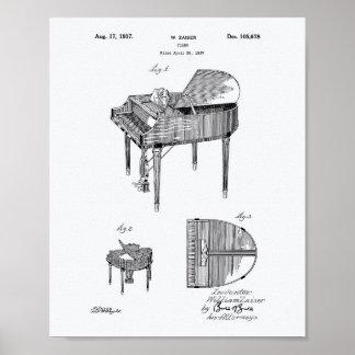 Patent-Kunst-Weißbuch des Klavier-1937 Poster