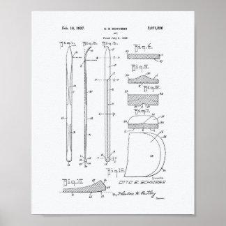Patent-Kunst-Weißbuch des Ski-1937 Poster