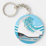 Patinage artistique - patins de glace bleus avec d porte-clef