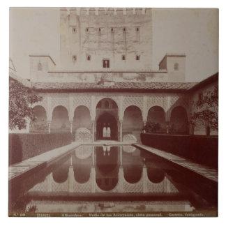 Patio de Los Arrayanes, Alhambra, c.1875-80 (Sepia Fliese