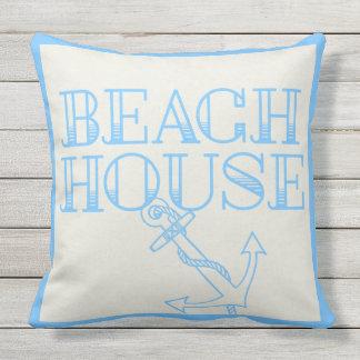 Patio-Kissen-Strand-Haus-Anker hellblau Kissen Für Draußen