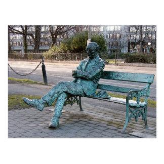 Patrick Kavenagh - irische Dichter-Skulptur Postkarte