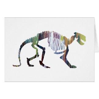 Patriofelis Skelett Grußkarte