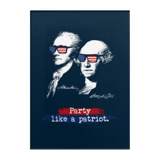 Patriot-Geschenk Alexander Hamiltons George Acryldruck