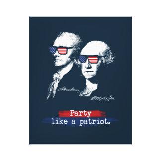 Patriot-Geschenk Alexander Hamiltons George Leinwanddruck