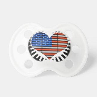 Patriot-Herz-amerikanische Flagge Schnuller