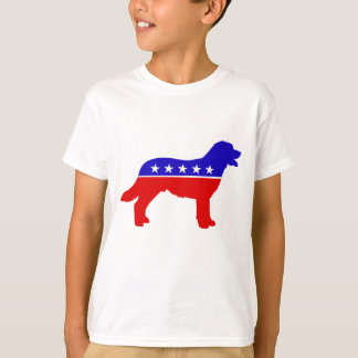 Patriot-Hund scherzt Shirt