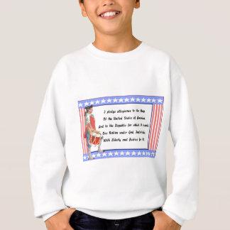 Patriot und Bürgschaft des Ergebenheits-Logos Sweatshirt