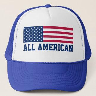 Patriotisch alle amerikanische USA-Flagge Truckerkappe