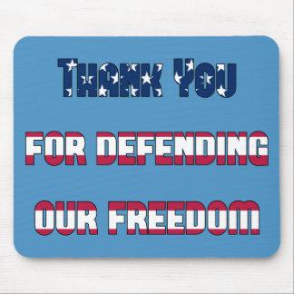 Patriotisch danke für die Verteidigung unserer Mauspads