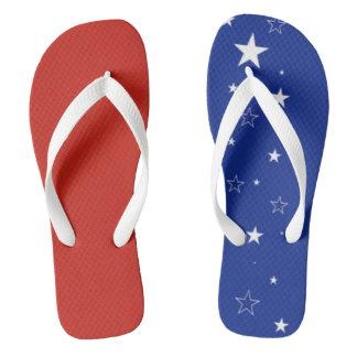 Patriotisch drehen Sie Reinfälle um Flip Flops