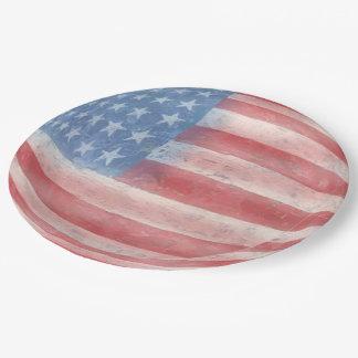 Patriotisch Pappteller