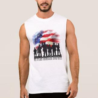 Patriotisch ziehen Sie nie sich hinunter Flagge Ärmelloses Shirt