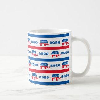 Patriotische 2020 republikanische Elefant-Streifen Kaffeetasse