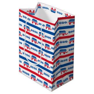 Patriotische 2020 republikanische Elefant-Streifen Mittlere Geschenktüte