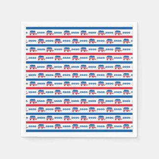 Patriotische 2020 republikanische Elefant-Streifen Papierserviette