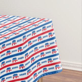 Patriotische 2020 republikanische Elefant-Streifen Tischdecke