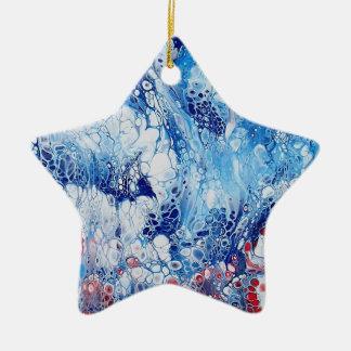 Patriotische abstrakte Kunst auf Stern-Verzierung Keramik Ornament
