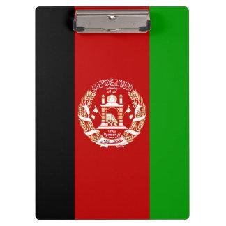 Patriotische afghanische Flagge Klemmbrett