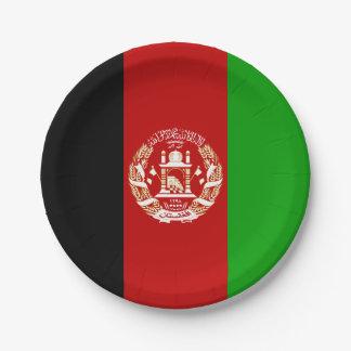 Patriotische afghanische Flagge Pappteller