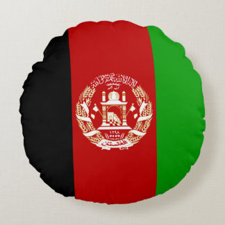Patriotische afghanische Flagge Rundes Kissen