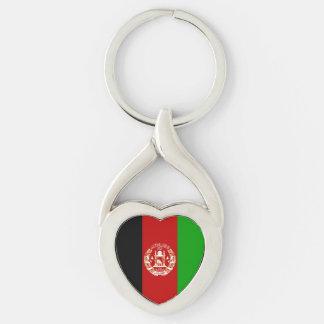 Patriotische afghanische Flagge Schlüsselanhänger