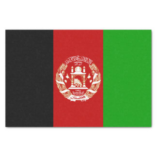 Patriotische afghanische Flagge Seidenpapier