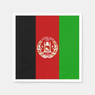 Patriotische afghanische Flagge Servietten