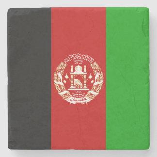 Patriotische afghanische Flagge Steinuntersetzer