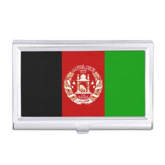 Patriotische afghanische Flagge Visitenkarten Dose