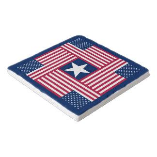 Patriotische amerikanische Flagge Töpfeuntersetzer