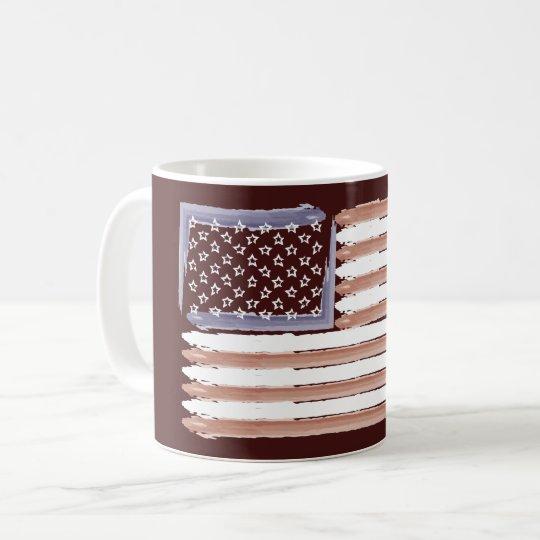 Patriotische amerikanische Flaggen-Kaffee-Tasse Tasse