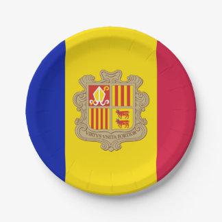 Patriotische Andorra-Flagge Pappteller