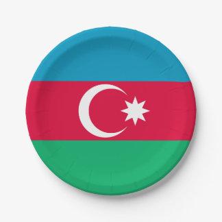 Patriotische Aserbaidschan-Flagge Pappteller