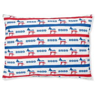 Patriotische Demokrat-Esel-Streifen 2020 Haustierbett