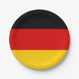 Patriotische deutsche Flagge Pappteller