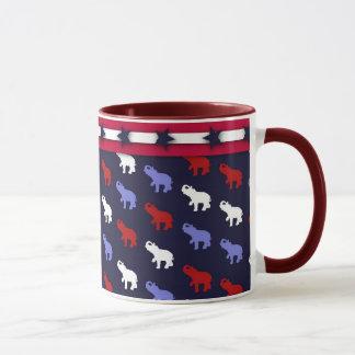 Patriotische Elefant-Tasse Tasse