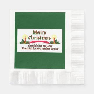 Patriotische frohe Weihnachten Papierserviette